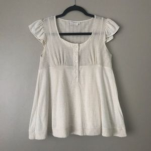 To The Max ruffle sleeve babydoll peasant blouse